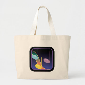 music notes design large tote bag