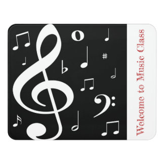 Music Notes Door Sign
