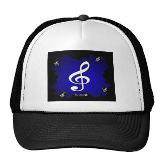 MUSIC NOTES GIFTS CUSTOMIZABLE PRODUCTS TRUCKER HATS