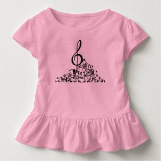 Music Notes Girls Ruffle Shirt