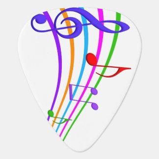 music notes guitar pick