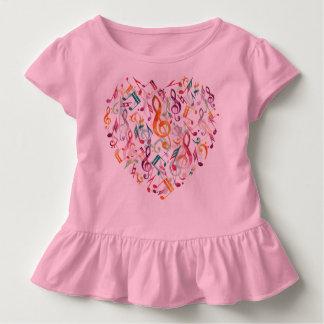 Music Notes Heart Toddler T-Shirt