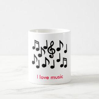 music notes, I love music Coffee Mug