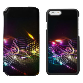 Music Notes in Color for Music-lovers Designer Incipio Watson™ iPhone 6 Wallet Case