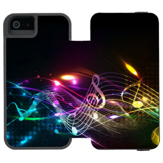Music Notes in Color for Music-lovers Designer Incipio Watson™ iPhone 5 Wallet Case