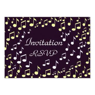 "Music notes-Invitation_ 5"" X 7"" Invitation Card"