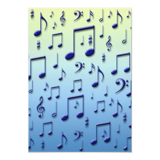 Music notes personalized invitation