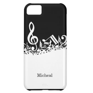Music Notes iPhone 5C Case with Custom Name