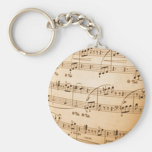 Music notes keychains