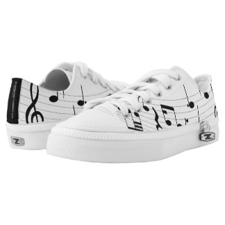 Music Notes Low Top Sneakers Shoes