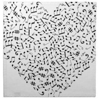 Music notes napkin