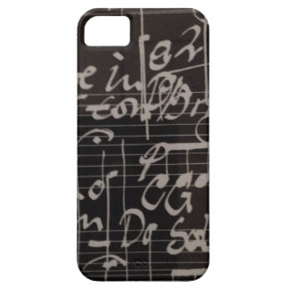 music notes on black background graphic iPhone 5 cover