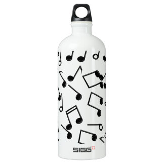 Music Notes on Blank (Add Background Color) Water Bottle