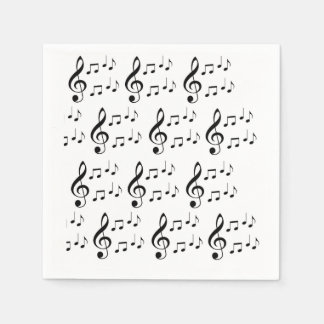 """Music Notes"" Paper Napkins"