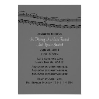 Music Notes Party Invitations