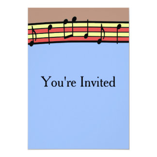 Music Notes Party Invitations for Boys