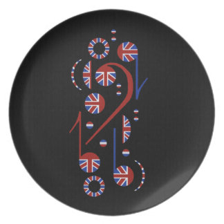 Music Notes Pate Dinner Plate