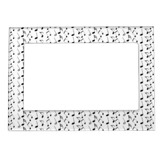 Music Notes Pattern Magnetic Picture Frames