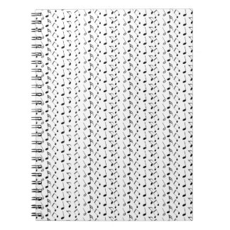 Music Notes Pattern Note Books