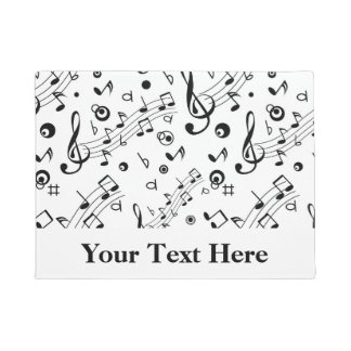 Music Notes Pattern Personalised Doormat