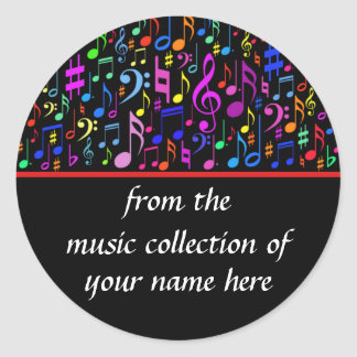Music Notes Personalized Sticker