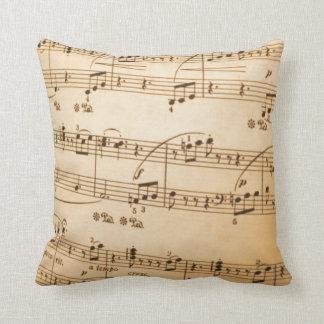 Music Notes Pillow