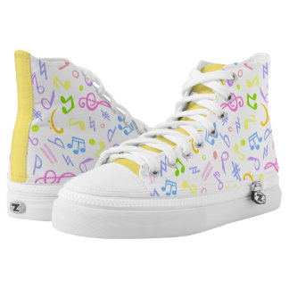 music notes printed shoes