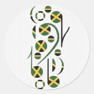 Music Notes Round Sticker