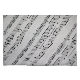 music notes sheet music placemats