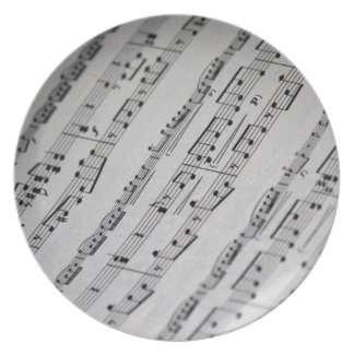 music notes sheet music plates