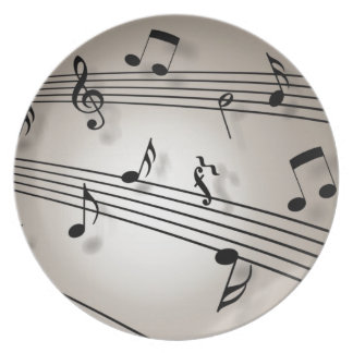 Music Notes - Sheet Music Dinner Plates