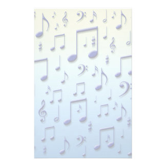 Music notes stationery paper