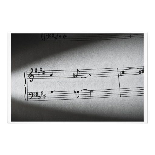 Music Notes Personalized Stationery