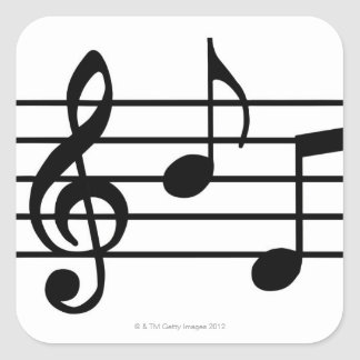 Music Notes Square Stickers