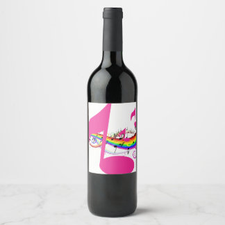 Music Notes Wine Label