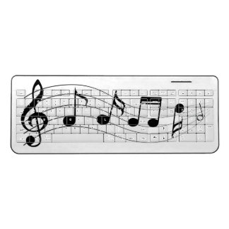 Music Notes Wireless Keyboard