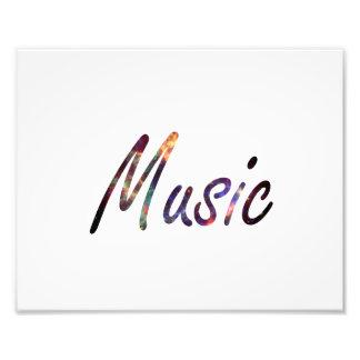 Music nova text script photo print