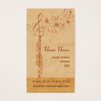 Music Oboe Band - Concert Wind Musical Instrument Business Card