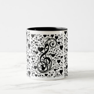 Music of the heart_ Two-Tone coffee mug