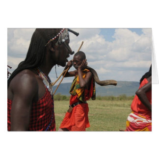 Music on the Massai Mara in Kenya Card