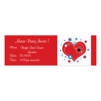 Music Party Invite - Card Business Card