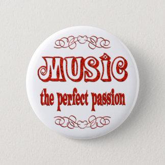 Music Passion 6 Cm Round Badge