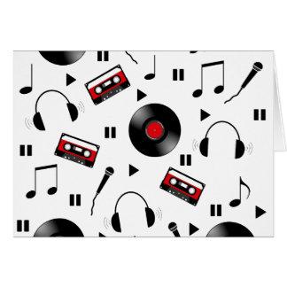 Music pattern card