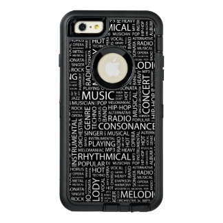 MUSIC pattern word cloud OtterBox Defender iPhone Case