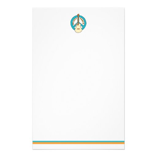 Music Peace Guitar Customized Stationery