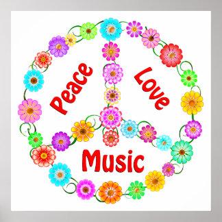 Music Peace Love Print