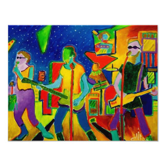 Music People by Piliero 11 Cm X 14 Cm Invitation Card