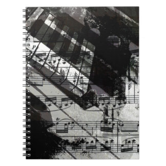 music, piano decor (10) notebook
