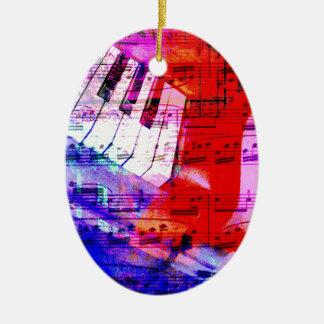 music, piano decor (11) ceramic ornament