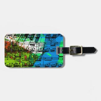 music, piano decor (14) luggage tag
